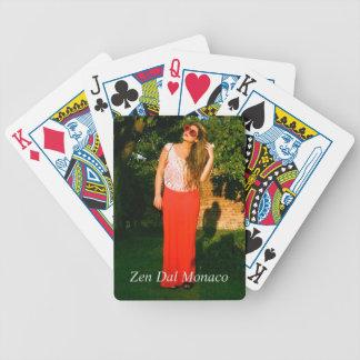 Zen Dal Monaco Girl Flower Glasses - Playing Cards