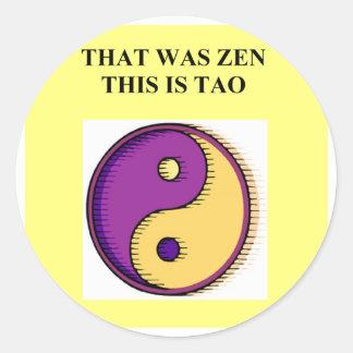 zen dao buddhism taoism joke stickers