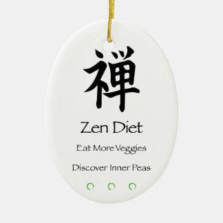 Zen Diet – Eat More Veggies – Discover Inner Peas Christmas Ornament