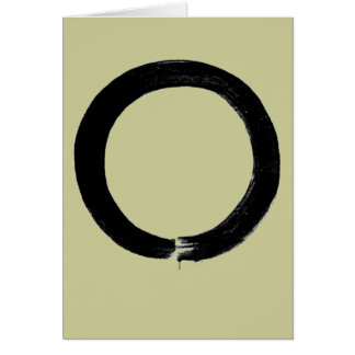 Zen Enso Buddhist Greeting Card