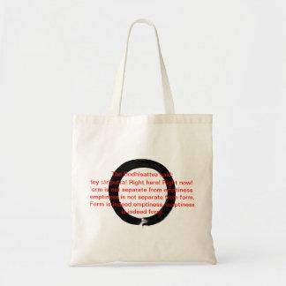 Zen Enso Heart Sutra Tote Bag