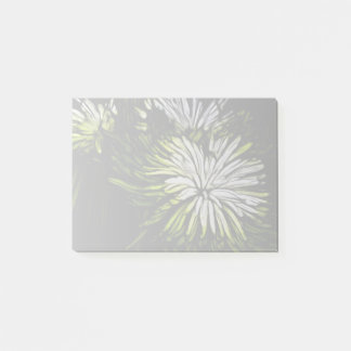 Zen floral Lime green white Chrysanthemum Post-it Notes