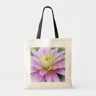 Zen Flower- Dahlia Bag Rumi Quote