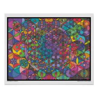Zen Flower of Life - Divine Eyes Poster