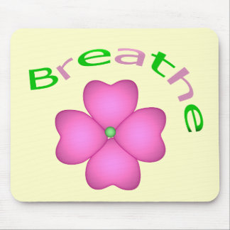 Zen Flower Petal - Breathe Mouse Pad