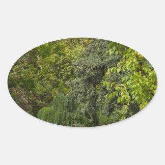 Zen garden oval sticker