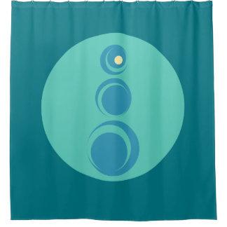 Zen Geometric Curves Shower Curtain