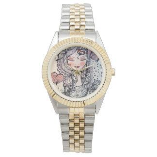Zen Girl Clock Wristwatch
