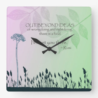 Zen Ideas Square Wall Clock