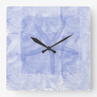Zen Inspired Beach Theme Starfish Square Wall Clock