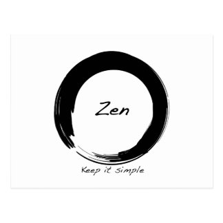 Zen: Keep it simple Postcard