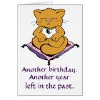 Zen Kitty Cat Meditation Yoga Birthday Card