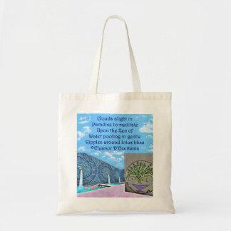 Zen Lotus Bath Poetry Budget Tote Bag