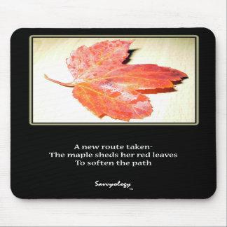 Zen Maple Poem & Art Mousepad