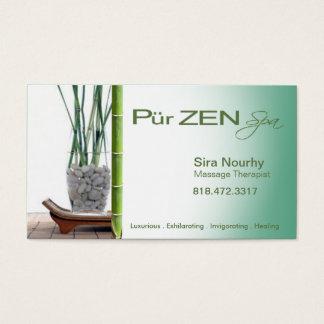 Zen Massage Therapist Spa template Business Card