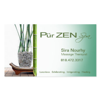Zen Massage Therapist Spa template Pack Of Standard Business Cards