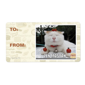 Zen Mastah Shipping Label