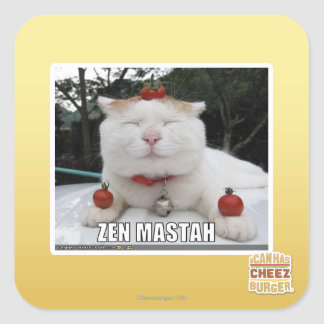 Zen Mastah Square Sticker