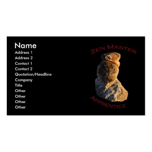Zen Master Business Card