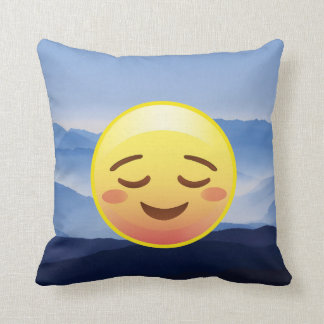 Zen Master Emoji Calm Down Carry On Pillow