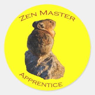 Zen Master Round Stickers