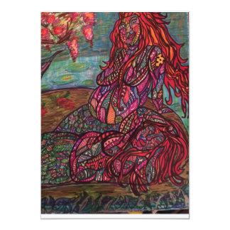 Zen mermaids 13 cm x 18 cm invitation card