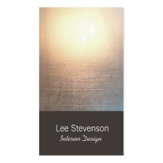 Zen Minimalist Simple New Age Interior Designer Pack Of Standard Business Cards