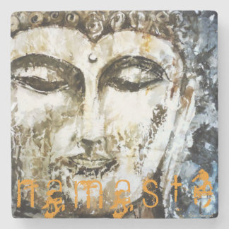Zen Namaste Buddha Watercolor Art Stone Coaster