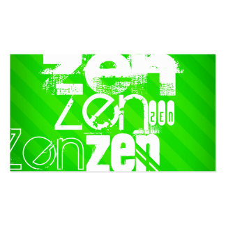 Zen; Neon Green Stripes Pack Of Standard Business Cards