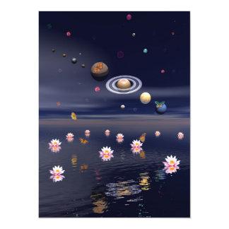 Zen night 14 cm x 19 cm invitation card