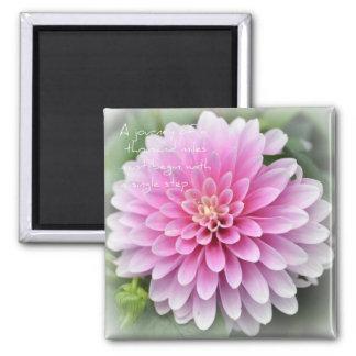 Zen of Simplicity Dahlia Magnet