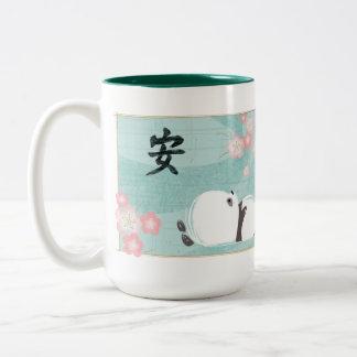 Zen Panda Mug (Plum Blossoms)