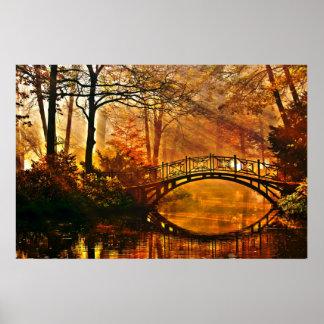 Zen paradise bridge, peace and love by healinglove poster