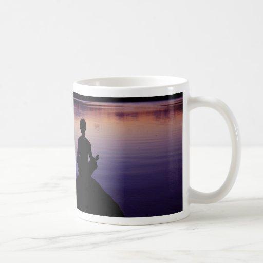 Zen peace yoga stillness meditation nature mugs