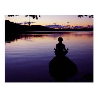 Zen peace yoga stillness meditation nature postcard