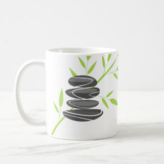 Zen pebble stacking mug with inspirational quote