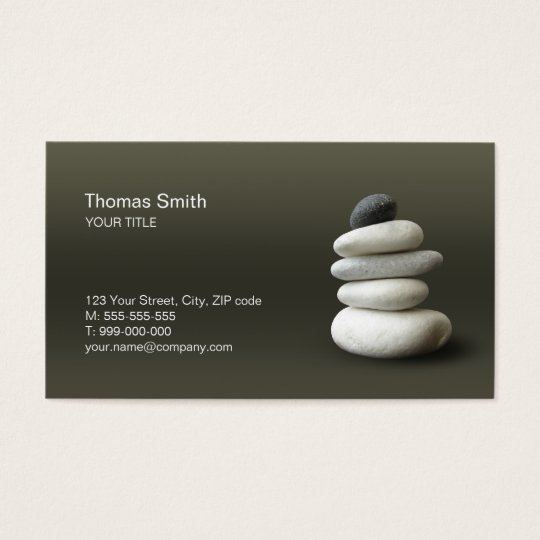 Zen Pebbles Balance business card