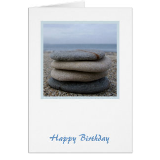 Zen Pebbles Birthday Card