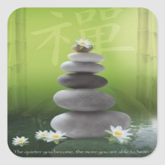 Zen Pebbles Square Stickers