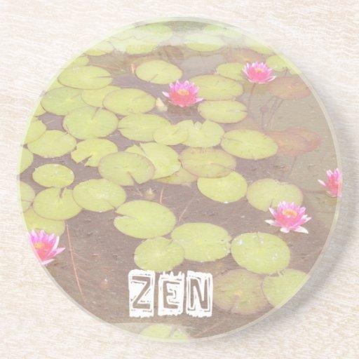 Zen Pink Lotus Drink Coaster