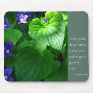 Zen Proverb Quote Poster Mouse Mat