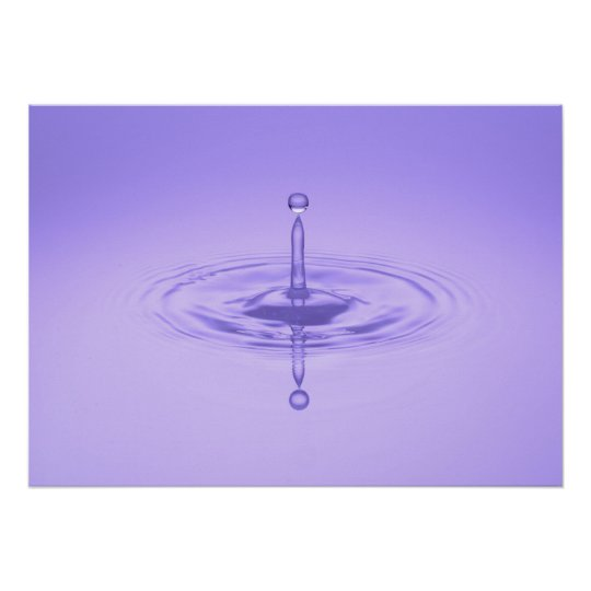 Zen Purple Water Drop Ocean Love Peace Inspiration