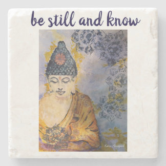 Zen Quote Buddha Stone Coaster