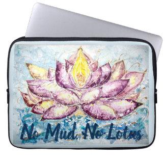 Zen Quote Lotus Watercolor Laptop Sleeve