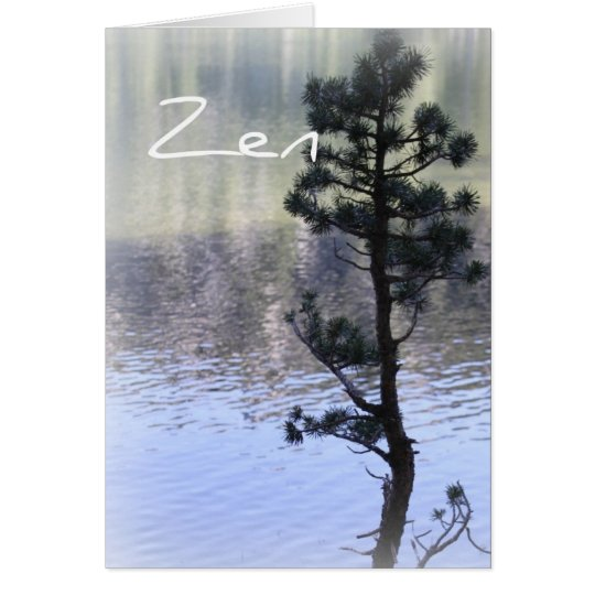 Zen Reflection- Water and Tree Card