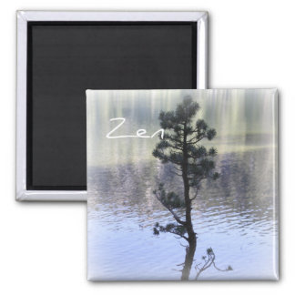 Zen Reflection- Water and Tree Magnet