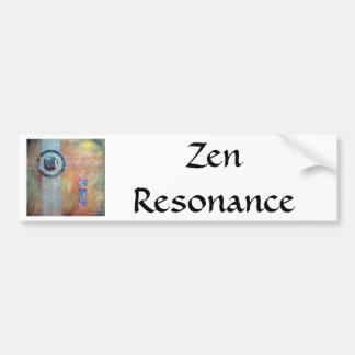 Zen Resonance - mixed media Bumper Stickers