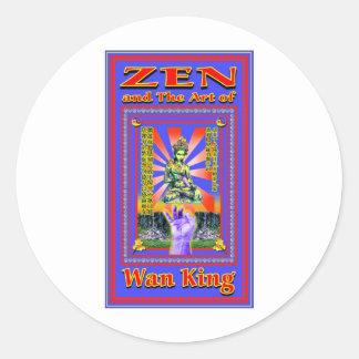 Zen Retro Hard Wok Classic Round Sticker