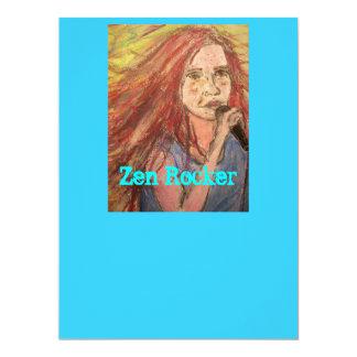 Zen Rocker Girl 17 Cm X 22 Cm Invitation Card