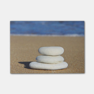 Zen Rocks on Beach Post-it Notes